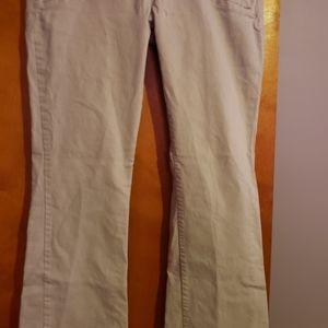 Womens size 14 average stretch khaki colored jeans